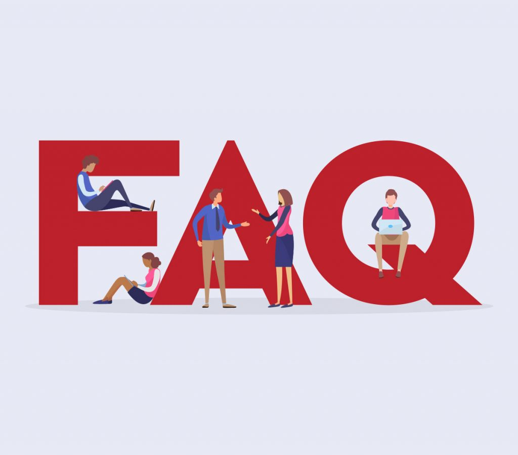 illustration of Capital letters FAQ